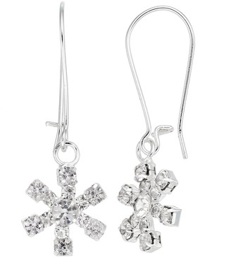 Snowflake Nickel Free Drop Earrings