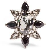 Oscar de la Renta Tropical Bloom crystal ring