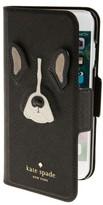 Kate Spade Antoine Applique Leather Iphone 7 Folio Case - Black