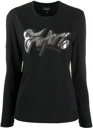 Emporio Armani metallic-logo T-shirt
