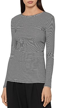 BCBGMAXAZRIA Striped Jersey Top