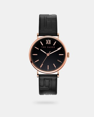 Ted Baker Branded Leather Strap Watch