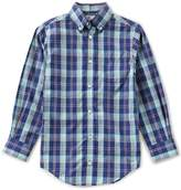 Class Club Big Boys 8-20 Plaid Button-Down Long-Sleeve Shirt