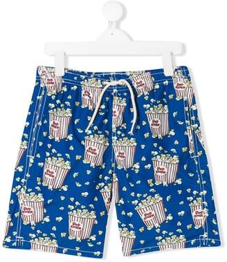 Mc2 Saint Barth Kids TEEN Jean popcorn print swimming shorts
