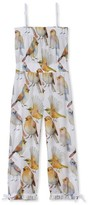 Stella Cove Toddler Girl's Pretty Birds Jumpsuit Cover-Up