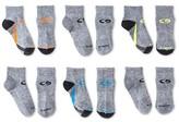 Champion Boys' Stripe Pattern 6-Pack Athletic Socks - Gray