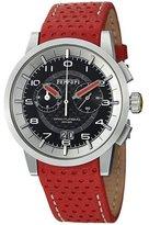 Ferrari Men's Granturismo Chronograph Black Carbon Fiber Dial Red Calf Skin FE11ACCCPBK Watch