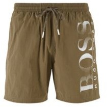 HUGO BOSS Logo-print swim shorts in technical fabric