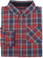 Andy & Evan Long-Sleeve Check Flannel Shirt, Red, Size 2-7