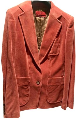 Carolina Herrera Orange Cotton Jacket for Women