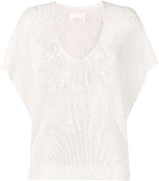 Zadig & Voltaire Sequin Knitted Top