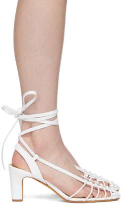 Maryam Nassir Zadeh White Maribel Strappy Sandals