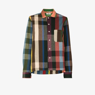 Bode Plaid Pattern Buttoned Shirt