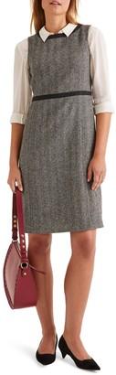 Boden Carrie Herringbone Tweed Wool Dress