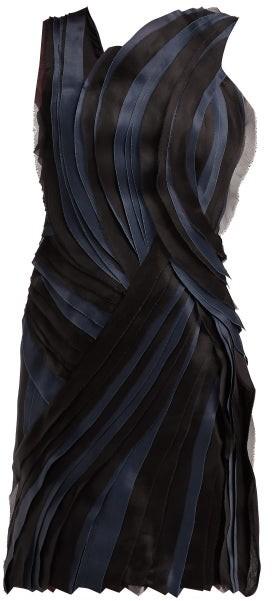 Lanvin Tiered Silk Voile And Satin Mini Dress - Womens - Black
