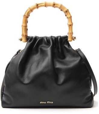Miu Miu Bamboo Detail Handbag