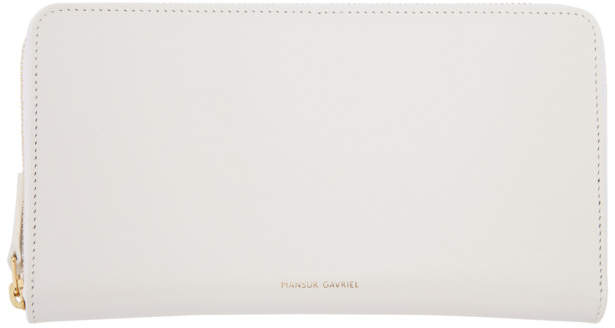 Mansur Gavriel White Continental Wallet