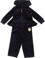 Juicy Couture Ruffled velour tracksuit set 3-24 months