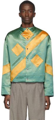 KIKO KOSTADINOV Green and Yellow Ansel Racing Jacket
