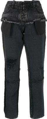 Unravel Project distressed slim fit jeans
