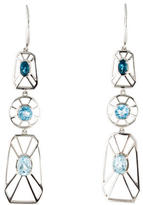 Catherine Malandrino Sky, Swiss & London Blue Topaz Drop Earrings