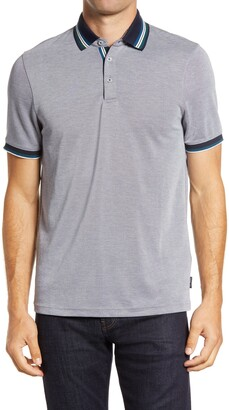 Ted Baker Shred Tipped Pique Polo