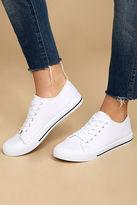 Qupid Americana White Canvas Sneakers