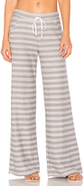 Bobi Beach Stripe Pants in Gray