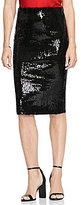 Vince Camuto Sequin Pencil Midi Skirt