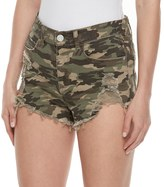 Mudd Juniors' Ripped Camouflage Shortie Shorts