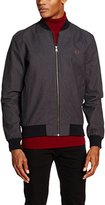 Fred Perry Men's FP Houndstooth Bomber Hooded Jacket