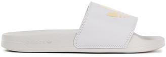 adidas Adilette Lite Metallic Printed Faux Leather Slides