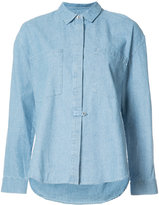 Derek Lam 10 Crosby concealed placket shirt