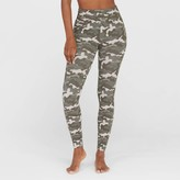 Spanx Assets By Aet By panx Women' Camo Print Jean-Look Legging - Olive Green