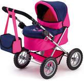 Bayer Trendy Dolls Pram - Pink and Dark Blue