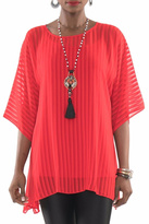 Lior Sheer Red Tunic Top
