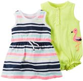 Carter's Baby Girl Striped Dress & Polka-Dot Romper Set