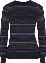 MiH Jeans Falls metallic striped merino wool-blend sweater