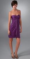 Laila Azhar Strapless Drape Front Dress