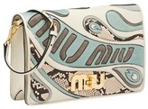 Miu Miu Women's Beige Leather Shoulder Bag.