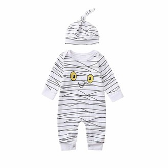 Moent Baby Halloween Jumpsuit Hat Outfits