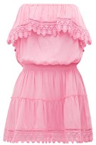 Melissa Odabash Joy Ruffled Strapless Mini Dress - Womens - Pink