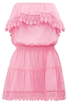 Melissa Odabash Joy Ruffled Strapless Mini Dress - Womens - Pink