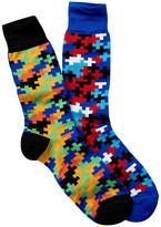 Jared Lang Pixelated Crew Sock - Pack of 2