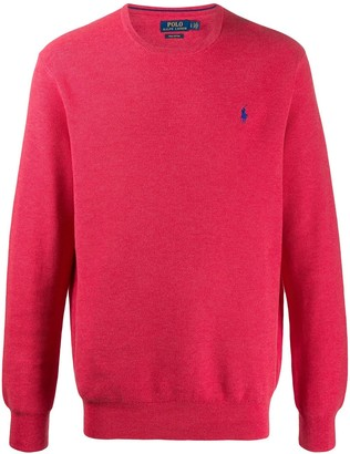 Polo Ralph Lauren Embroidered Logo Crew Neck Sweater