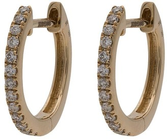Jacquie Aiche 14K yellow gold mini diamond pave hoop earrings