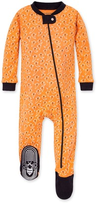 Burt's Bees Boo! Organic Baby Zip Up Footed Halloween Pajamas