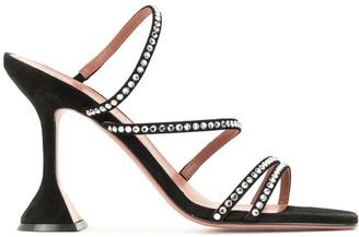 Amina Muaddi Naima 95mm rhinestone-embellished sandals