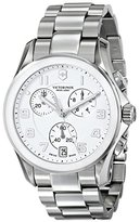 Victorinox Men's 241538 Chrono Classic Analog Display Swiss Quartz Silver Watch