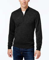 Cutter & Buck Men's Big and Tall Douglas Half-Zip Heathered Sweater